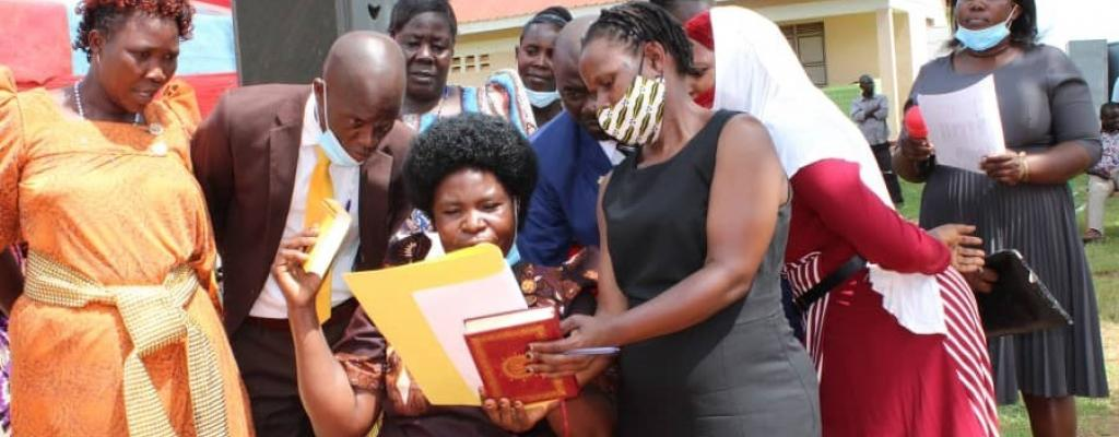 Hon, Anyango Lilian, councilor representing PWDs takes oath